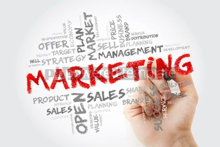 Business: Marketing word cloud with marker business concept background #14029