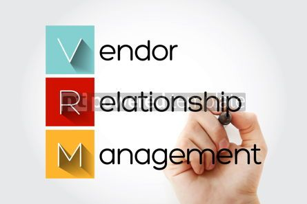 Business: VRM - Vendor Relationship Management acronym business concept b #14032