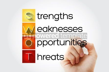 Business: SWOT Analysis business concept strengths weaknesses threats a #14033