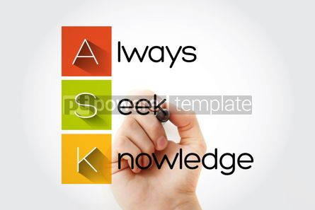 Business: ASK - Always Seek Knowledge acronym education business concept #14036