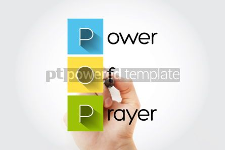 Business: POP - Power Of Prayer acronym concept background #14037