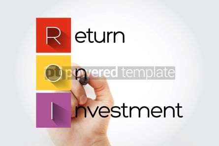 Business: ROI - Return On Investment acronym business concept background #14038
