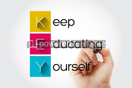 Business: KEY - Keep Educating Yourself acronym education concept backgro #14039