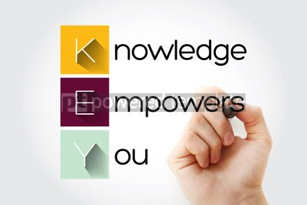 Business: KEY - Knowledge Empowers You acronym business concept backgroun #14040