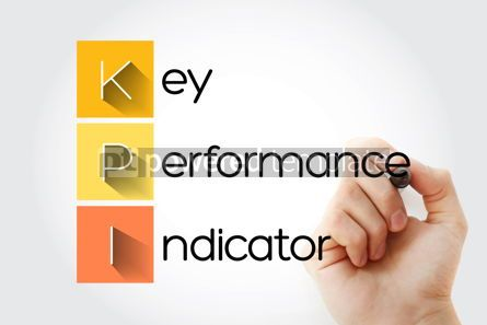 Business: KPI - Key Performance Indicator acronym business concept backgr #14041