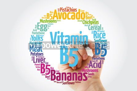 Education: Vitamin B5 word cloud collage health concept background #14044