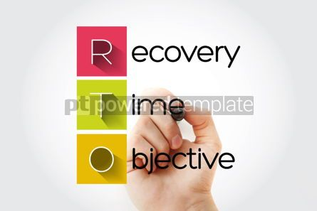 Business: RTO - Recovery Time Objective acronym business concept backgrou #14047