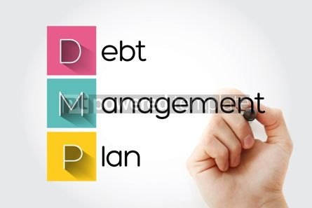 Business: DMP - Debt Management Plan acronym business concept background #14049