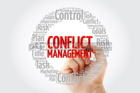 Business: Conflict Management word cloud collage business concept backgro #14053
