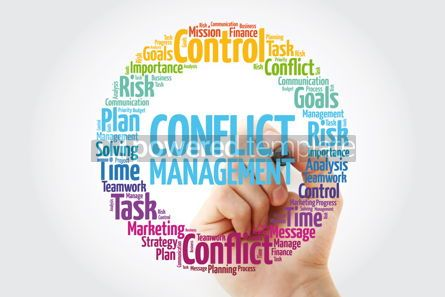 Business: Conflict Management word cloud collage business concept backgro #14054