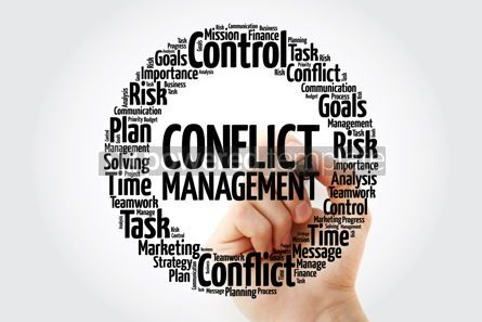 Business: Conflict Management word cloud collage business concept backgro #14055