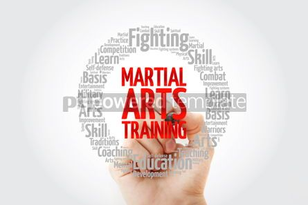 Health: Martial Arts Training word cloud collage concept background #14057