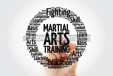 Health: Martial Arts Training word cloud collage concept background #14059