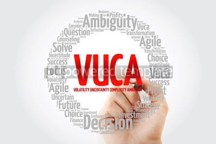 Business: VUCA - Volatility Uncertainty Complexity Ambiguity acronym wo #14060