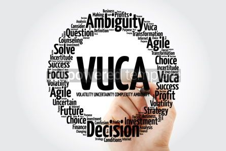 Business: VUCA - Volatility Uncertainty Complexity Ambiguity acronym wo #14062
