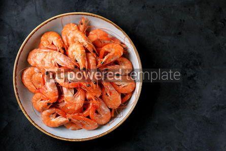 Food & Drink: Boiled big sea prawns shrimps Healthy food Top view Copy space #14075
