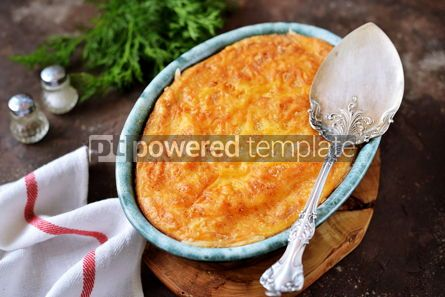 Food & Drink: Potato casserole with mushrooms onions and carrots #14092