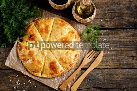 Food & Drink: Puff pastry cheesecake on an old wooden background Rustiс food #14112