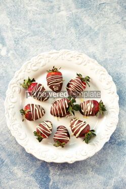 Food & Drink: Delicious fresh strawberries in milk and white chocolate #14118