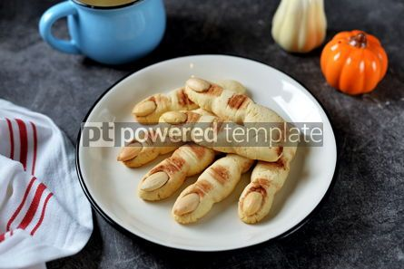 Food & Drink: Shortbread cookie witch's fingers for Halloween party #14202