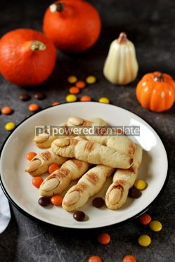 Food & Drink: Shortbread cookie witch's fingers for Halloween party #14203