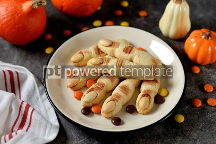 Food & Drink: Shortbread cookie witch's fingers for Halloween party #14204