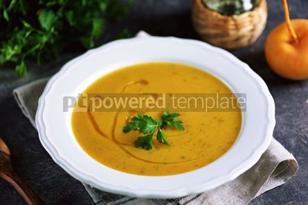 Food & Drink: Cream soup of turnips and carrots Healthy wholesome homemade food #14221
