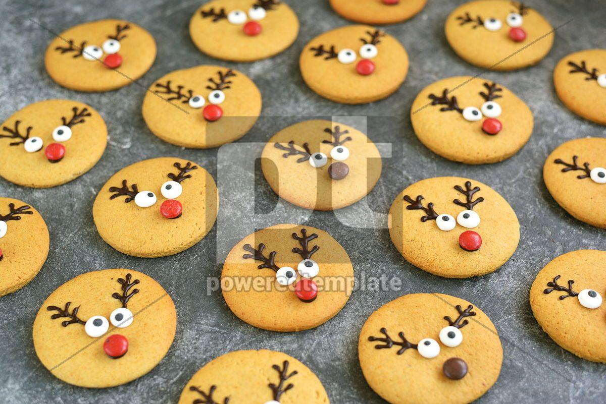 Cute New Year and Christmas gingerbreads Santa Deer Homemade Christmas baking, 14264, Food & Drink — PoweredTemplate.com