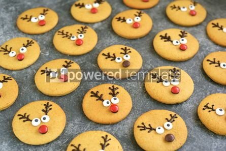 Food & Drink: Cute New Year and Christmas gingerbreads Santa Deer Homemade Christmas baking #14264