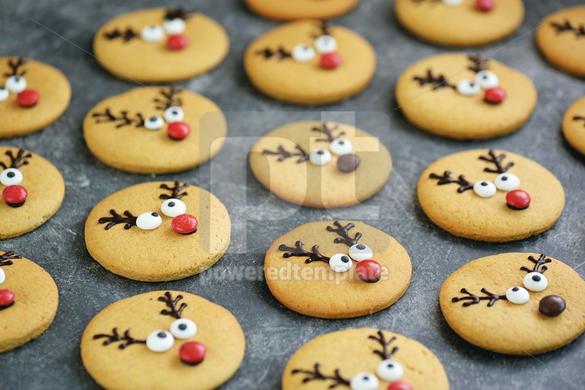 Cute New Year and Christmas gingerbreads Santa Deer Homemade Christmas baking, 14265, Food & Drink — PoweredTemplate.com