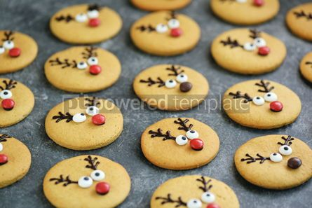 Food & Drink: Cute New Year and Christmas gingerbreads Santa Deer Homemade Christmas baking #14265