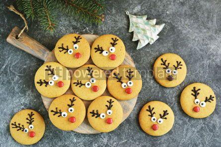 Food & Drink: Cute New Year and Christmas gingerbreads Santa Deer Homemade Christmas baking #14266