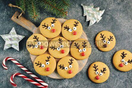 Food & Drink: Cute New Year and Christmas gingerbreads Santa Deer Homemade Christmas baking #14268