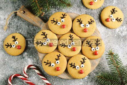Food & Drink: Cute New Year and Christmas gingerbreads Santa Deer Homemade Christmas baking #14269