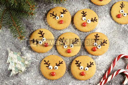 Food & Drink: Cute New Year and Christmas gingerbreads Santa Deer Homemade Christmas baking #14270