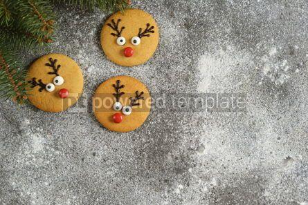 Food & Drink: Cute New Year and Christmas gingerbreads Santa Deer Homemade Christmas baking #14271