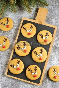 Food & Drink: Cute New Year and Christmas gingerbreads Santa Deer Homemade Christmas baking #14272