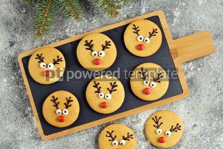 Food & Drink: Cute New Year and Christmas gingerbreads Santa Deer Homemade Christmas baking #14273