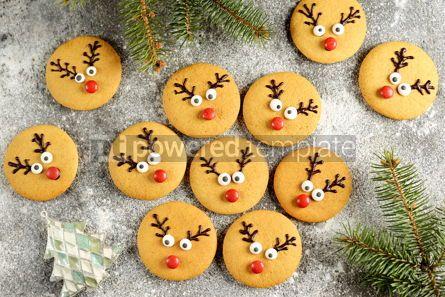Food & Drink: Cute New Year and Christmas gingerbreads Santa Deer Homemade Christmas baking #14275