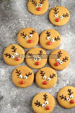 Food & Drink: Cute New Year and Christmas gingerbreads Santa Deer Homemade Christmas baking #14276