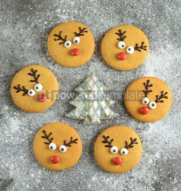 Food & Drink: Cute New Year and Christmas gingerbreads Santa Deer Homemade Christmas baking #14277