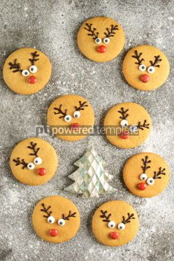 Food & Drink: Cute New Year and Christmas gingerbreads Santa Deer Homemade Christmas baking #14278