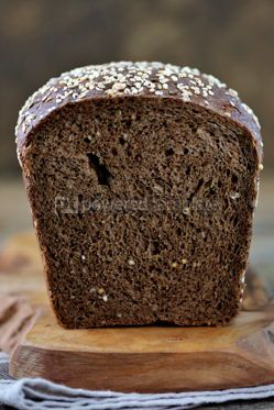Food & Drink: Healthy rye bread on an old wooden background #14354