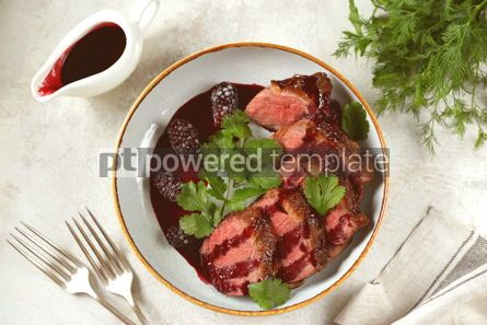 Food & Drink: Duck breast in blackberry sauce Homemade organic food #14391