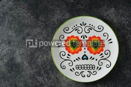 Food & Drink: Plate for Halloween party on a dark background Top view Copy space #14590