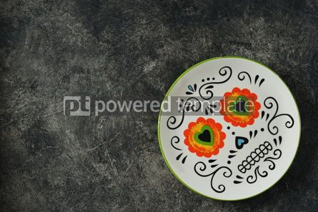 Food & Drink: Plate for Halloween party on a dark background Top view Copy space #14591