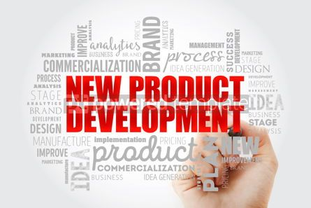 Business: New product development word cloud collage #14597