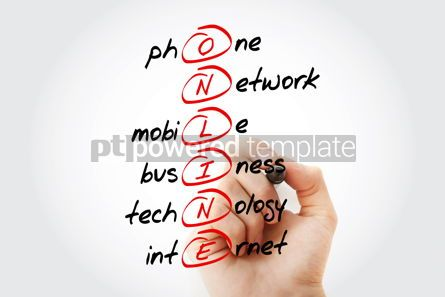 Business: ONLINE acronym business concept background #14619