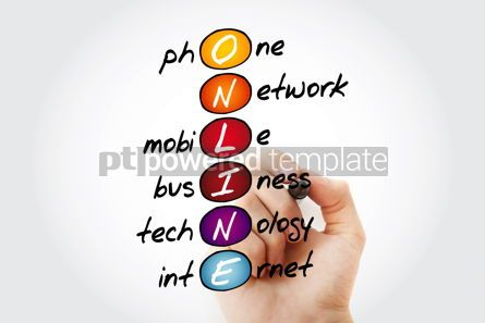 Business: ONLINE acronym business concept background #14632