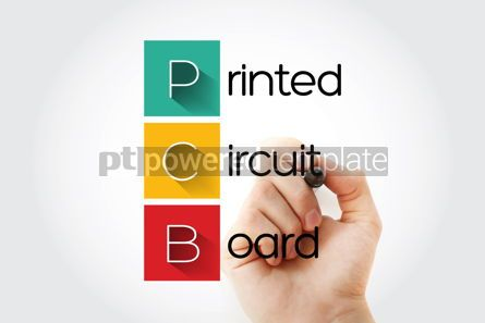 Business: PCB - Printed Circuit Board acronym with marker technology conc #14636